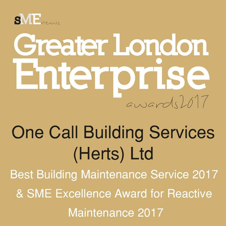 Greater Enterprise London Awards 2017 - One Call Building Services Awards Winner